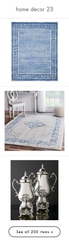 """""""home decor 23"""" by liddy-white ❤ liked on Polyvore featuring home, rugs, silver, patterned rugs, pile rug, safavieh, rectangle rugs, woven rugs, blue and plush area rugs"""