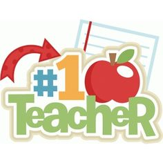 Silhouette Design Store - View Design #72875: number 1 teacher title