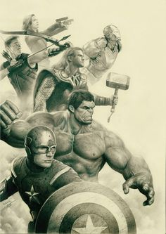 """Avengers"" - Pencil Drawing by Yin Yuming"