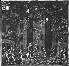 Le Quatorze Juillet or La Farandole, by Gwen Raverat