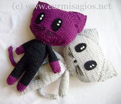 Grisig the Cat toy ~ Free Knitting Pattern ~ Download PDF File