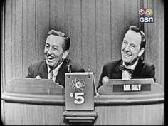 """""""What's My Line""""  Walt Disney was the mystery guest on the 11 November 1956 episode of WML."""