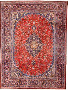Red 9' 6 x 12' 7 Mashad Rug   Persian Rugs   eSaleRugs