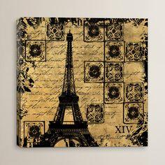 "House of Hampton B&G Tour Eiffel Graphic Art on Canvas Size: 12"" H x 12"" W x 0.75"" D"