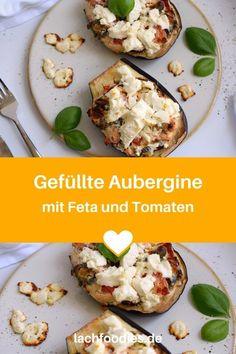 Hast du schon einmal eine Aubergine aus dem Ofen gegessen? Hier findest du ein vegetarisches Rezept für Aubergine mit Feta. Aubergine vegetarisch, inkl. einiger Variationen mit Oliven, Kapern oder auch Pepperoni. Dieses Low Carb Rezept ist eines meiner Favoriten, wenn es um ein gesundes Abendessen mit Gemüse geht. Lass es dir schmecken.    #aubergine #gesund #lachfoodies Low Carb High Fat, Foodblogger, Lchf, Feta, Eggs, Breakfast, Gluten Free Recipes, Olives, Morning Coffee