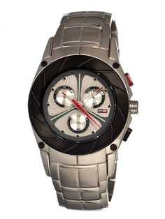 Silver Black Label Men's Watch from Dfactory.