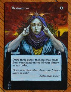 MTG altered card - Brainstorm.