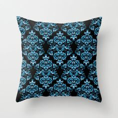 Blue Pattern Pillow cover Retro Pillow Throw pillow by NikaLim