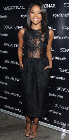 Look of the Day - December 7, 2014 - Gabrielle Union in Georgine from #InStyle