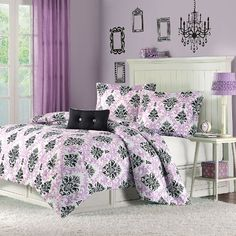 Katelyn Printed Comforter Set Size: Full/Queen, Color: Purple Mi-Zone http://www.amazon.com/dp/B004WI7D92/ref=cm_sw_r_pi_dp_TiHaub0JPGQVJ
