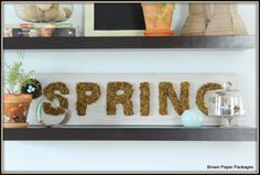 Mossy Spring Sign