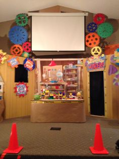 gadgets and gizmos vbs Gadgets And Gizmos Vbs, 2017 Gadgets, Vacation Bible School 2017, Maker Fun Factory Vbs, Kids Sunday School Lessons, Library Themes, Office Christmas Decorations, Vbs Themes, Imagination Station