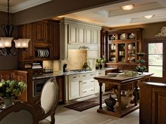 This Two Tone Kitchen Was The Inspiration For Our Remodel Traditional Cabinets