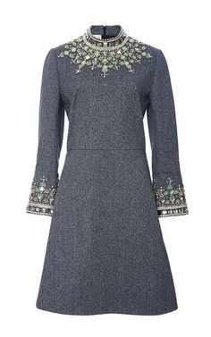 Jewel embellished flared sleeve dress by MARNI for Preorder on Moda Operandi