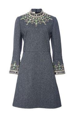 Jewel embellished flared sleeve dress by MARNI for Preorder on Moda Operandi