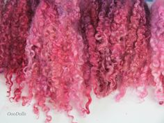 Wensleydale curly locks  hand dyed/painted