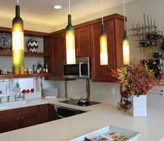 Hanging Pendant Lights From wine Bottles