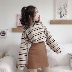 ulzzang fashion New Fashion Korean Shoes Ulzzang 68 Ideas Teen Fashion Outfits, Retro Outfits, Cute Casual Outfits, Cute Fashion, Skirt Fashion, Trendy Fashion, Fashion Fashion, Korea Fashion, Fashion Ideas