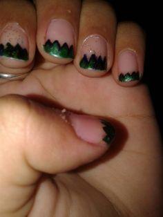 a green nail art