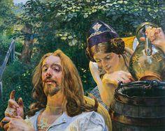 Christ and the Samaritan Woman - Jacek Malczewski  1911