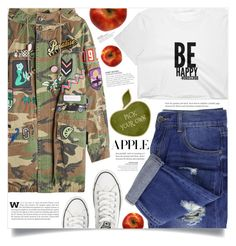 """Harvest Time: Apple Picking"" by dolly-valkyrie ❤ liked on Polyvore featuring Marc Jacobs, Converse and applepicking"