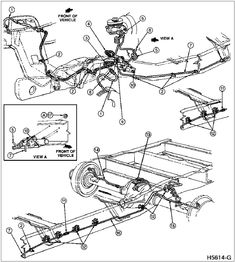 1996 ford f 250 brake lines ford f 250 brake line diagram diy rh pinterest com 1997 Ford F-150 Rear Brake Diagram Disc Brake Diagram