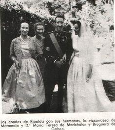 CASAMENT DELS PERES DE JAIME DE MARICHALAR, CONDES DE RIPALDA