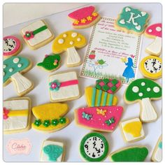 Alice in Wonderland cookies My Cookie Couture