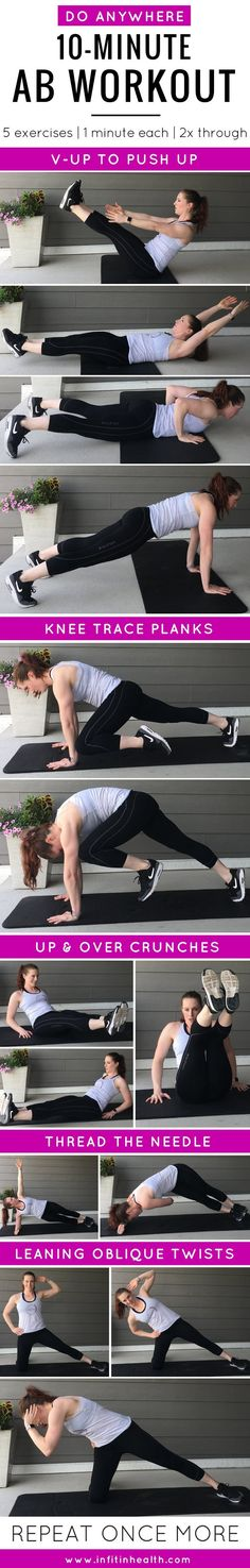 10-Minute Do Anywhere Ab Workout | In Fitness and In Health
