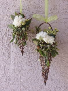 WOODLAND FANTASY FAIRY Flower Girl Grapevine Cone by LizAnnFlorals, $45.00