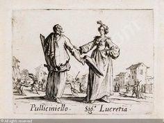 Pulliciniello and Signora Lucretia, from Balli di Sfessania (c.1622)