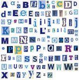 Alphabet Bezeichnet Zeitschriften-u. Zeitungs-Art Mit Buchstaben Stockbilder - Bild: 19398324