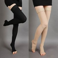 fa3f82243f Unisex Knee-High Medical Compression Stockings Varicose Veins Open Toe  Stockings Open Toe Socks,