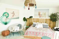 Love the vibe of this room and the tassel lamp shade - Billabong's Montauk Summer Surf Party? #LetsMontaukAboutIt