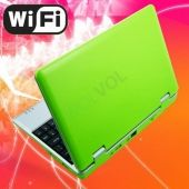 "LIME GREEN 7"" Mini Netbook Laptop Notebook Netbook WIFI Internet Android 2.2 Tons Apps Games YouTube Facebook 3 USB Ports 4gb HD 256mb Ram (INCLUDES: Velvet Pouch Case, Charger, Mini Optical Mouse)      Short Description: * Slim and light weight GREEN mini laptop Android 2.2, 4GB storage, WiFi internet. * ... $99.99"