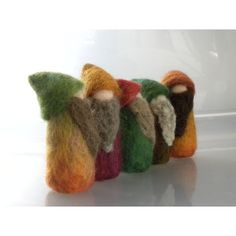 Another Happy Band of Needle Felted Gnomes door all4fiberarts