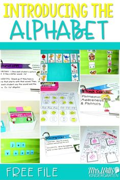 Introducing the Alphabet in kindergarten. We help kindergarten students learn to identify the letters of the alphabet at first by looking at the path of motion. See how we start our year with letter introduction and a FREE file! Abc Activities, Workshop, First Grade Teachers, Letter Recognition, Letter Tracing, Phonemic Awareness, Kindergarten Literacy, Beginning Of School, Reading Strategies
