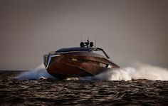 Art of Kinetiks has an in-house team of designers, naval architects, engineers and craftsmen share the same ambition and vision, and we work as one in the relentless pursuit of excellence. the 63 foot Hedonist yacht has a solid mahogany hull and carries Rolls Royce water jets that gives the smoothest of rides at it's top speed of 40 knots.
