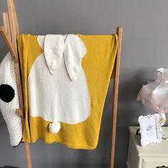 Grey Pink Baby Blankets Newborn Rabbit Crochet Swaddling Blanket Kid Cotton Bedding Cover Manta bebe Cobertor Baby Photo Props