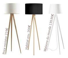 Depuis que l'on pense à refaire notre salon dans une inspiration scandinave, je rêve d'une belle lampe trépied en bois massif avecun abat jour blanc,…