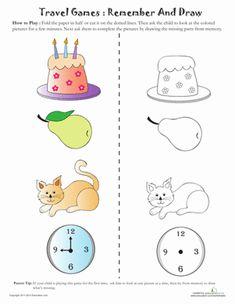 Picture Memory Games - Kindergarten Memory Worksheets | Education.com