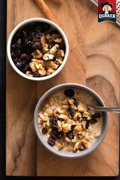 Perfect for busy weekday mornings, this Oatmeal Cookie Overnight Oats breakfast recipe is delicious and creamy. Made with Quaker® Old Fashioned Oats, raisins, nuts, and cinnamon, this tasty treat is sure to be a family favorite.