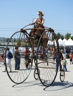 emporioefikz:  Steampunk Bicycle at Maker Faire 2012 held in San Mateo, California on May 19th, 2012. - In Startup Land