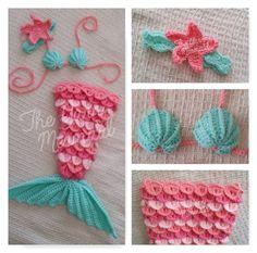 Crochet baby mermaid pattern 31 Ideas for 2019 Mermaid Baby Blanket, Baby Mermaid Crochet, Crochet Crafts, Crochet Projects, Newborn Crochet Patterns, Mermaid Photos, Mermaid Outfit, Crocodile Stitch, Crochet Clothes