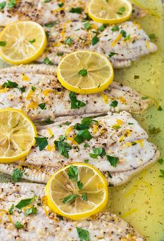 Flounder baked in a lemon butter sauce that is prepared in under 30 minutes!