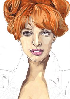 promarker drawings - Google Search Vanessa Lake, Pen Art, Redheads, Pretty In Pink, Drawings, People, Beauty, Drop, Google Search