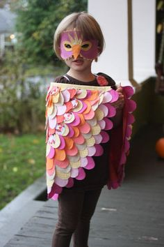 beautiful halloween bird wings and mask (by probably actually)