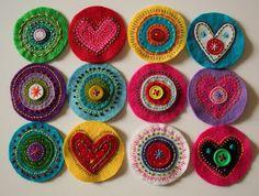 Fieltro bordado / Embroidered felt