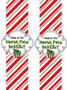 The Elf on the Shelf~ {North Pole Bakery Label} North Pole Sign, North Pole Breakfast, Elf On The Shelf, Shelf Elf, Polar Express Party, Christmas Elf, Christmas Ideas, Christmas Crafts, Xmas