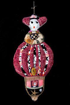 Christmas Fairy, Christmas Bulbs, Textiles, Impression Textile, Fabric Pictures, Art Textile, Felt Art, Surface Design, Fiber Art